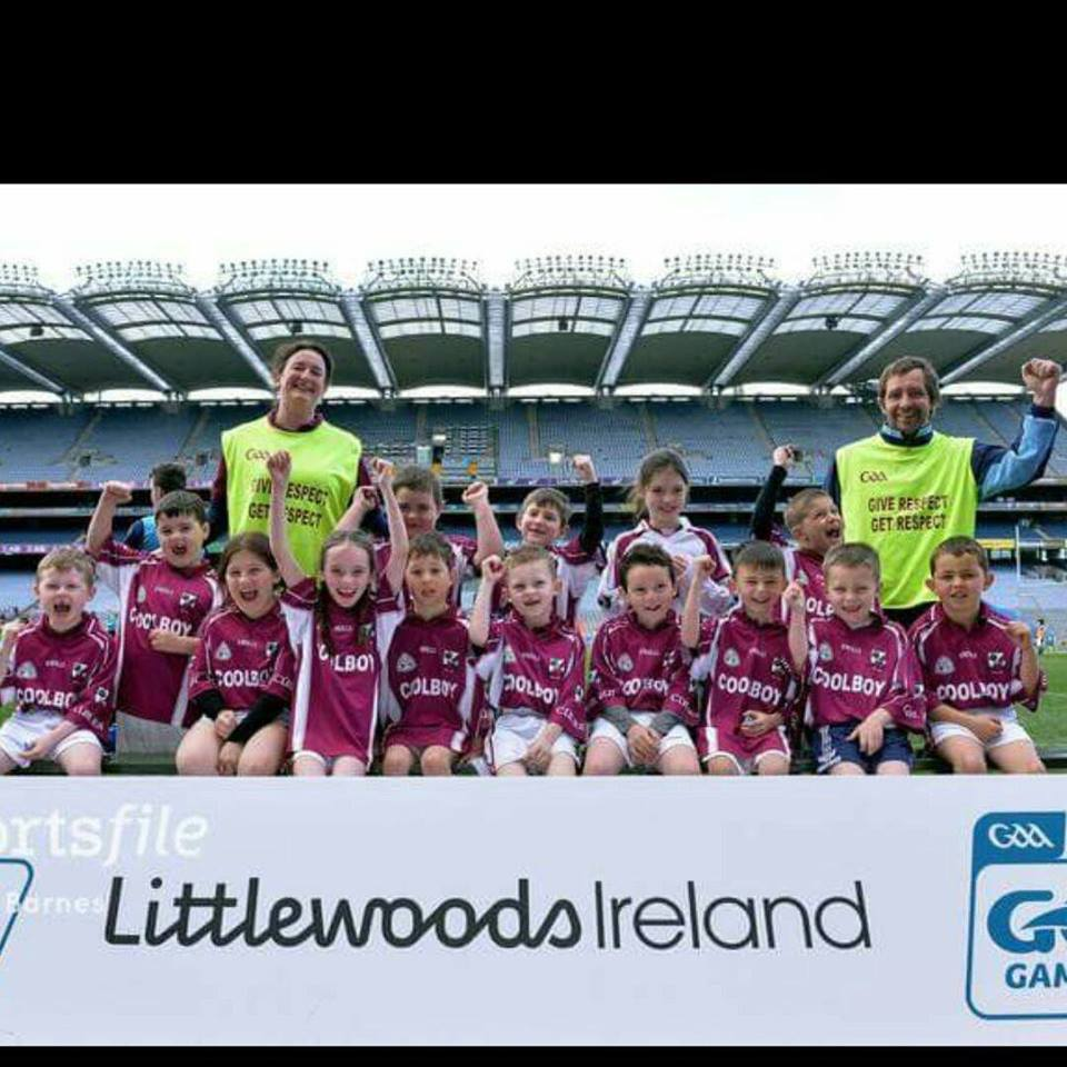Under 8 Coolboy GAA Juvenile squad who vistited Croke Park 10th April 2017